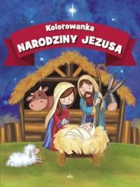 Kolorowanka. Narodziny Jezusa farbki i pędzelek w zestawie - okładka książki
