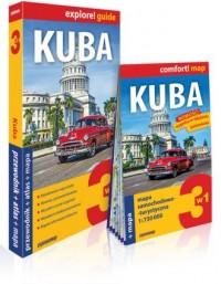 Kuba 3w1; przewodnik + atlas + mapa - okładka książki