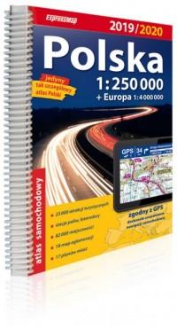Polska atlas samochodowy 1:250 000. Wydanie 2019/2020 - okładka książki
