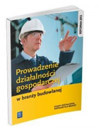 Prowadzenie działalności gospod. w branży budowlanej - okładka podręcznika