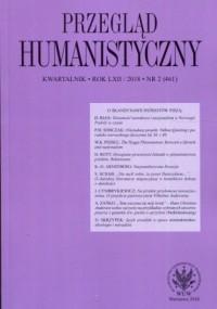 Przegląd Humanistyczny 2018/2 - okładka książki