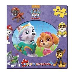 Psi Patrol. Książka z puzzlami - okładka książki