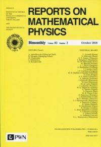 Reports on Mathematical Physics 82/2 Polska - okładka książki