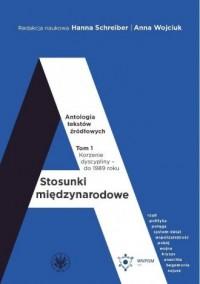 Stosunki międzynarodowe. Antologia tekstów źródłowych. Tom 1: Korzenie dyscypliny do 1989 roku - okładka książki