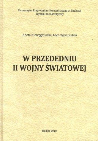 W przededniu II wojny światowej - okładka książki