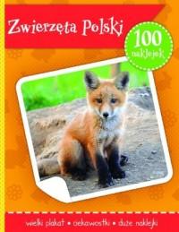 Zwierzęta Polski. Książeczka z plakatem i 100 naklejek - okładka książki