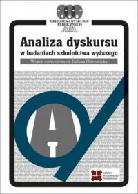 Analiza dyskursu w badaniach szkolnictwa wyższego - okładka książki