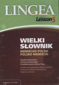 Wielki słownik niemiecko-polski i polsko-niemiecki (CD) - okładka książki