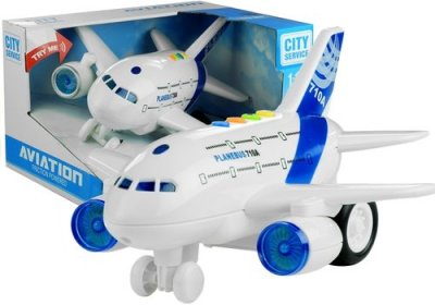 Duży Samolot z Napędem Świeci Gra - zdjęcie zabawki, gry