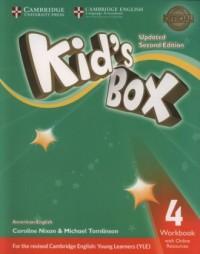 Kids Box Level 4. Workbook with Online Resources American English - okładka podręcznika