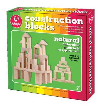Klocki drewniane konstrukcyjne - zdjęcie zabawki, gry