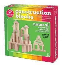 Klocki drewniane konstrukcyjne naturlane - zdjęcie zabawki, gry