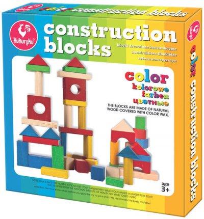 Klocki konstrukcyjne kolorowe - zdjęcie zabawki, gry