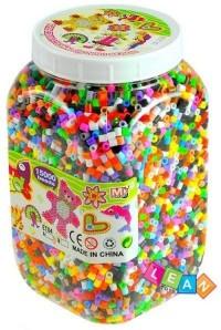 Kolorowe koraliki w słoiku 15 000 sztuk - zdjęcie zabawki, gry