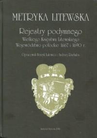 Metryka litewska Rejestry podymnego Wielkiego Księstwa Litewskiego. Województwo połockie 1667 i 1690 r. - okładka książki