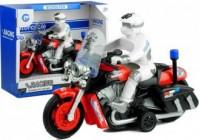 Motocykl Policyjny Ścigacz. Ruchome Koła. Gra Świeci - zdjęcie zabawki, gry