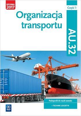 Organizacja transportu Kwal. AU.32. - okładka podręcznika