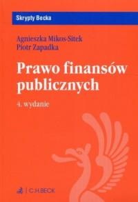 Prawo finansów publicznych. Seria: Skrypty Becka - okładka książki