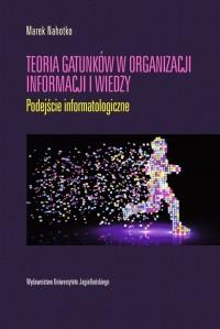 Teoria gatunków w organizacji informacji i wiedzy - okładka książki