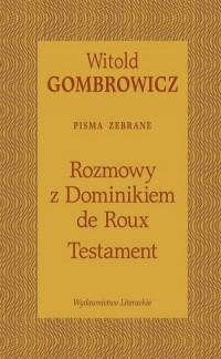 Testament. Rozmowy z Dominikiem de Roux - okładka książki