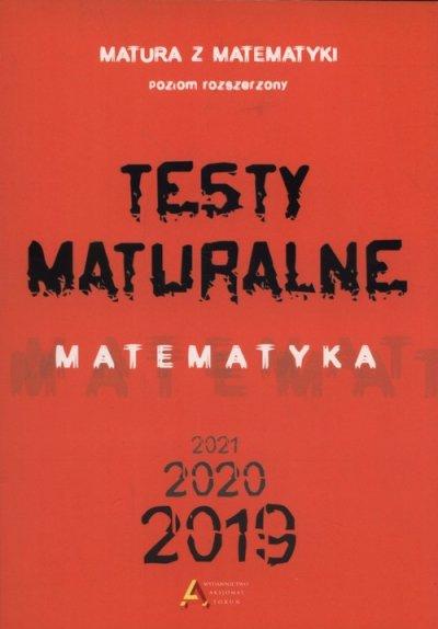 Testy maturalne. Matematyka 2019-2020-2021. - okładka podręcznika