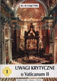 Uwagi krytyczne o Vaticanum II cz. 1 - okładka książki