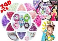 Zestaw koralików + zegarki dla małej pięknisi - zdjęcie zabawki, gry