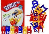Gra Spadające Krzesła. Ułóż Kolorową Wieżę - zdjęcie zabawki, gry