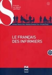 Le francais des infirmiers B1-B2 (+ DVD) - okładka książki
