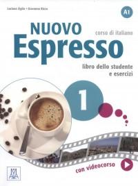 Nuovo Espresso 1 libro dello studente e esercizi (+ DVD) - okładka podręcznika