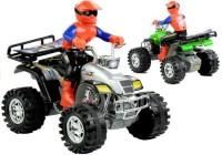 Quad motor czterokołowy terenowy + kierowca - zdjęcie zabawki, gry