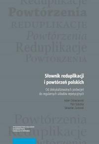 Słownik reduplikacji i powtórzeń polskich - okładka książki
