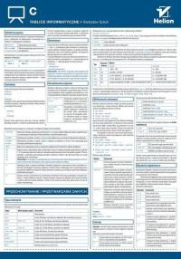 Tablice informatyczne C - okładka książki