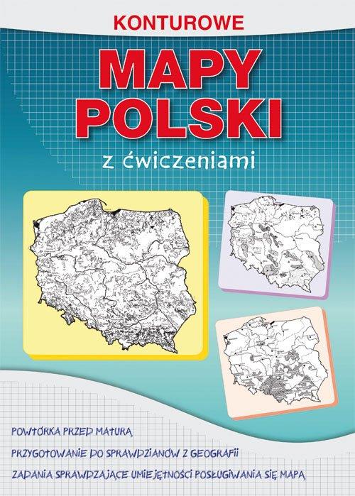 Konturowe mapy Polski z ćwiczeniami. - okładka podręcznika