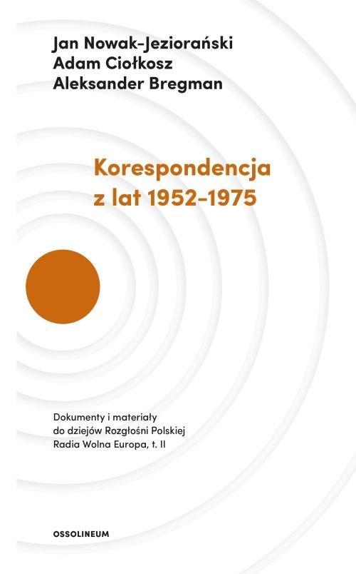 Korespondencja z lat 1952-1975 - okładka książki