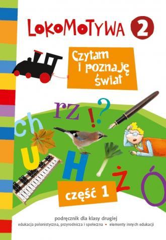Lokomotywa 2. Czytam i poznaję - okładka podręcznika