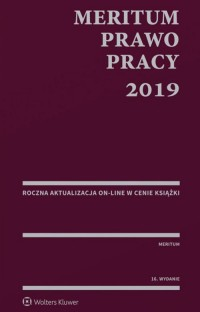 MERITUM. Prawo pracy 2019 - okładka książki