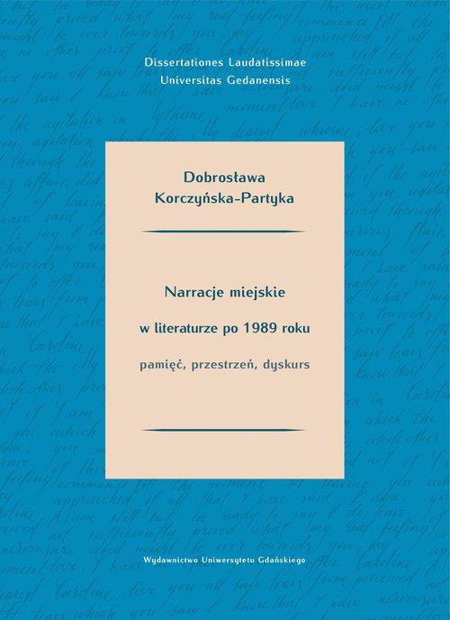 Narracje miejskie w literaturze - okładka książki