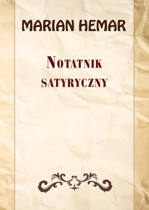 Notatnik satyryczny. Wybór wierszy - okładka książki