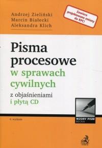 Pisma procesowe w sprawach cywilnych z objaśnieniami i płytą CD - okładka książki