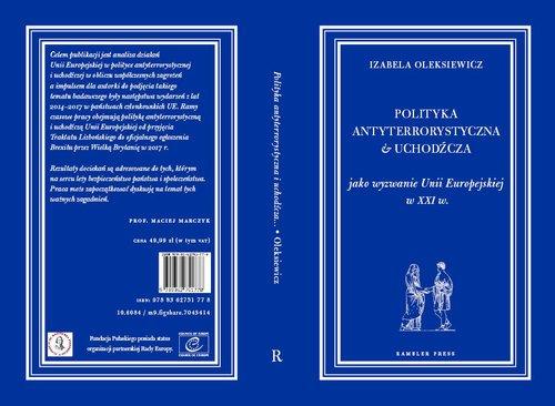 Polityka antyterrorystyczna i uchodźcza - okładka książki
