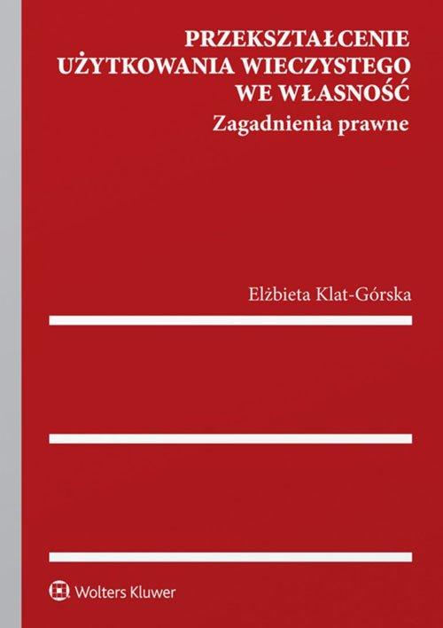 Przekształcenie użytkowania wieczystego - okładka książki