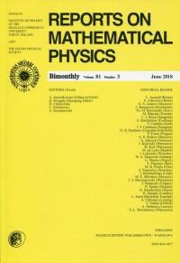 Reports on Mathematical Physics 81/3. Pergamon - okładka książki