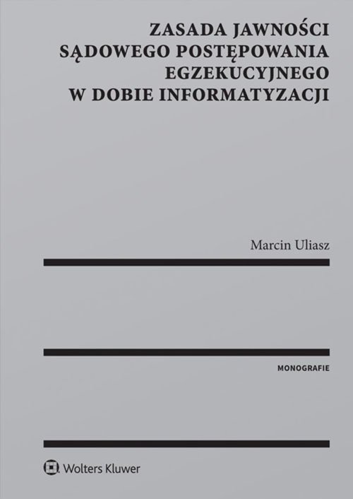 Zasada jawności sądowego postępowania - okładka książki