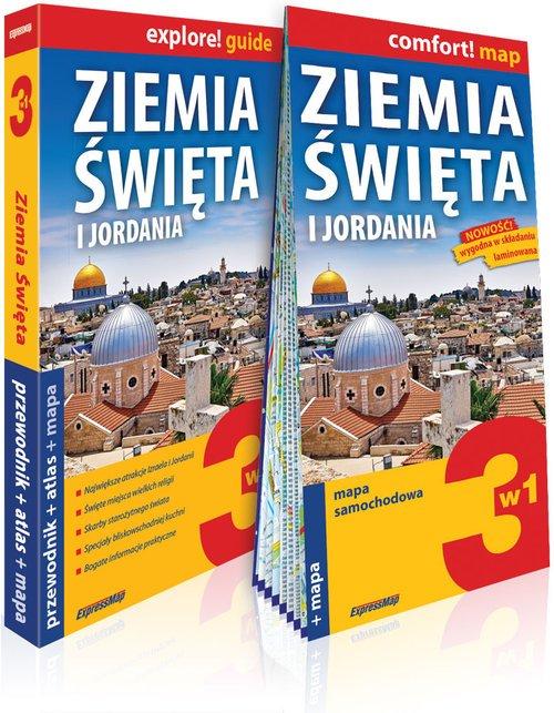 Ziemia Święta i Jordania 3w1: przewodnik - okładka książki