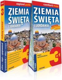 Ziemia Święta i Jordania 3w1: przewodnik + atlas + mapa. explore! guide - okładka książki