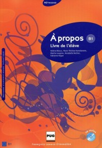A propos B1 Podręcznik + CD - okładka podręcznika