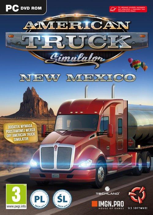 American Truck Simulator New Mexico - pudełko programu