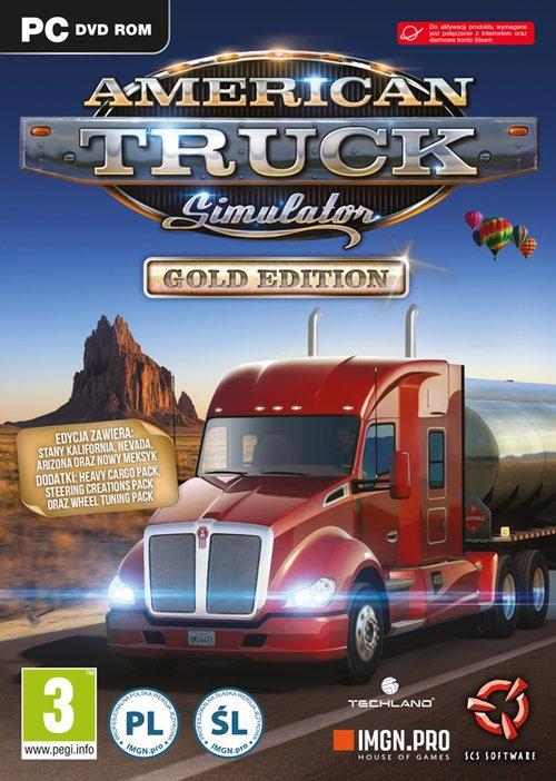American Truck Simulator PC Gold - pudełko programu
