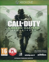 Call of Duty Modern Warfare Remastered Xbox One - pudełko programu